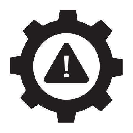 system error icon on white background. system not working sign. flat style. Industry problem symbol.