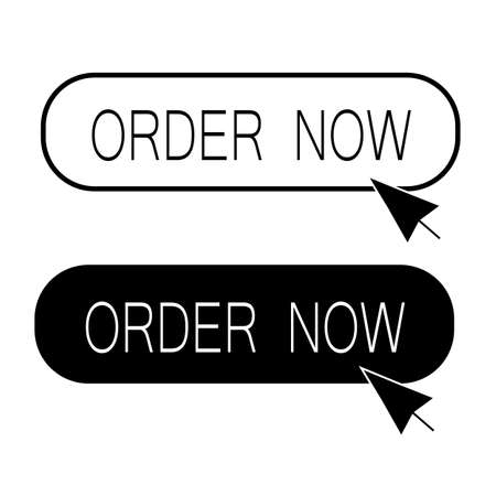 order now button on white background. order now sign. flat style. Çizim