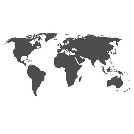 world map on white background. flat earth. map sign. world Map silhouette. globe similar worldmap icon.