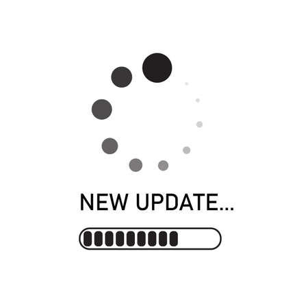 system software update icon on white background. upgrade concept. flat style. loading process screen. new update process sign.