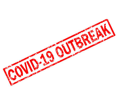 covid_19 outbreak stamp sign. covid_19 outbreak grunge rubber stamp on white background. covid_19 outbreak red stamp symbol.