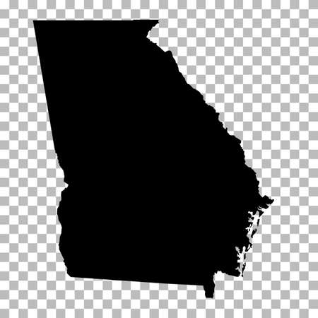 Georgia State on transparent background. Georgia Map sign. flat style. Georgia State Clipart.