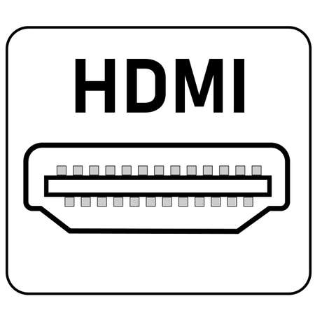 hdmi port icon on white background. hdmi sign. flat style. hdmi digital video connectors symbol. 版權商用圖片 - 162270088