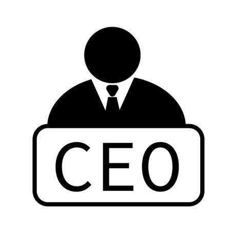 chief executive officer icon on white background. chief executive officer sign. ceo symbol. flat style.