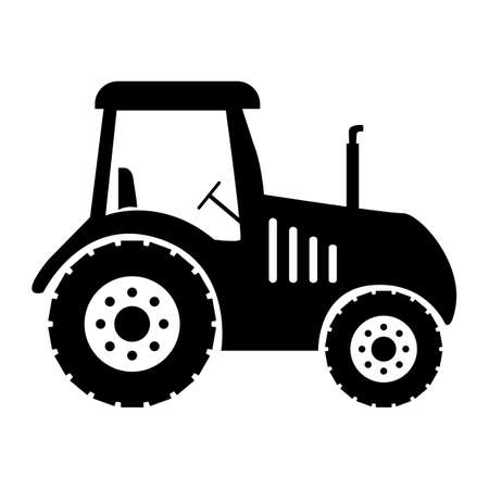 tractor icon on white background. farm tractor sign. flat style. black tractor symbol. 版權商用圖片 - 162270098