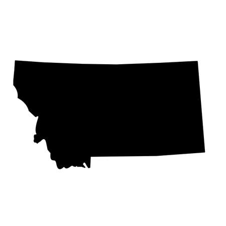 map of the U.S. state of Montana. outline map of Montana.
