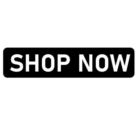 shop now icon on white background. flat style. shop now sing. black shop now button.