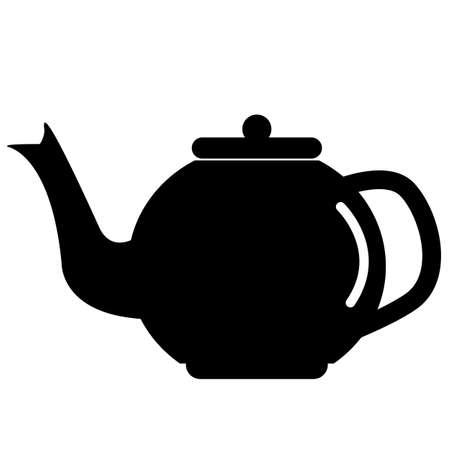 the teapot icon on white background. flat style. tea symbol. kettle sign. ceramic teapot icon.