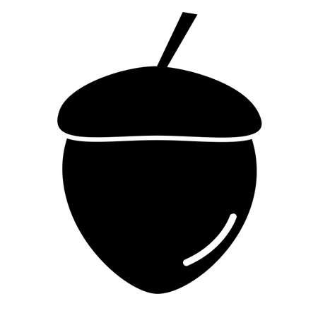 acorn icon on white background. acorn sign. flat style.  acorn nut symbol.