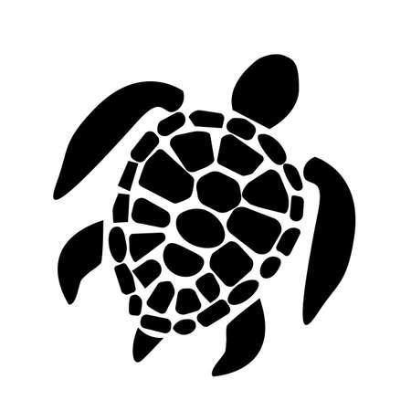 sea turtle icon on white background. sea turtle symbol. turtle sign. flat style.