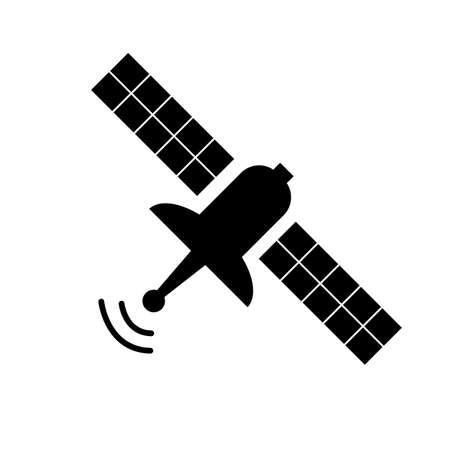 satellite icon on white background. satellite sign. flat style. satellite dish symbol. artificial satellite in orbit around earth.