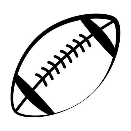 american football icon on white background. black football sign. flat style. sports ball symbol. rugby ball sign.