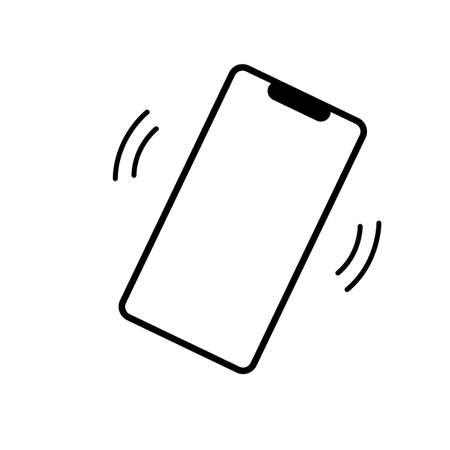 smartphone vibration icon on white background. ringer mobile symbol. flat style. mobile phone ringing symbol.