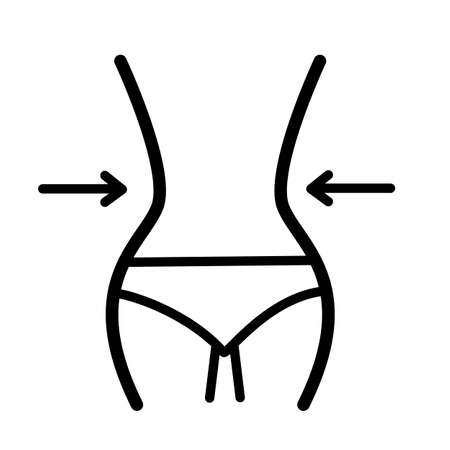 waist icon on white background. flat style. waistline sign. weight loss symbol. slimming concept.