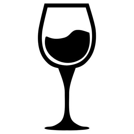 wine icon on white background. wine glass sign. flat style.