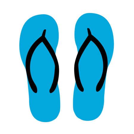 flip flops icon on white background. sandals traveling equipment sign. flat style. slippers flip flops symbol. 일러스트