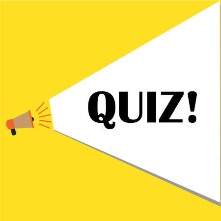 quiz of marketing loudspeaker icon on white background. Quiz with speech bubble symbols. quiz sign. flat style. loudspeaker with speech bubble.