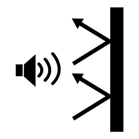 soundproof icon on white background. sound insulation sign. noise absorbing symbol. hotel room soundproofing 일러스트