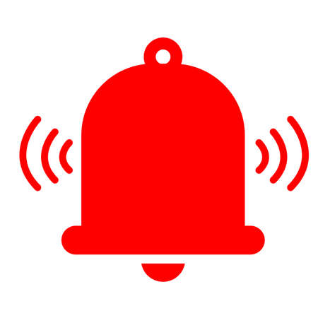 alarm icon on white background. flat style. alarm bell sign. bell symbol.