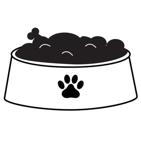 dog bowl icon on white background. dog bowl sign. flat style. pet dog food logo. pet bowl symbol.