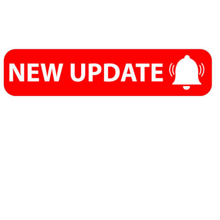 red new update icon on white background. new update symbol. banner new update sign. flat style. 일러스트