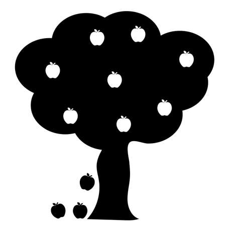 apple tree icon on white background. flat style. summer tree sign. apple tree symbol.