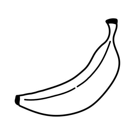 banana icon on white background. single Banana sign. line banana. flat style