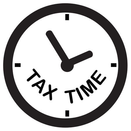 tax time icon on white background. state taxes logo. flat style. tax payment sign. government taxes symbol.