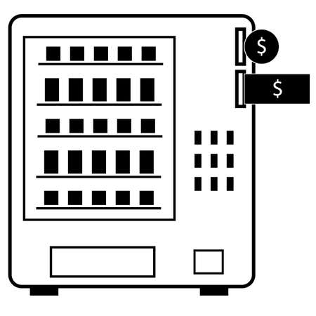 vending machine icon on white background. automatic vending machine sign. vending business concept. food selling machine symbol. flat style. 일러스트
