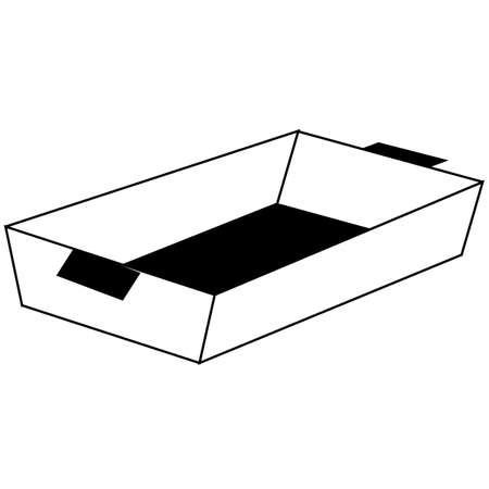 baking tray icon on white background. flat style. baking sheet symbols. baking tray sign.