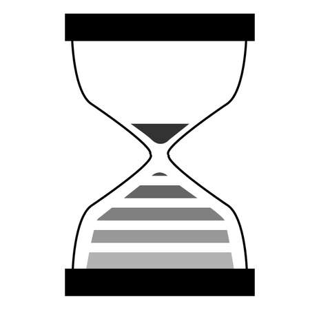 time icon on white background. hourglass sign. sand clock cursor icon. sand clock symbol. flat style.