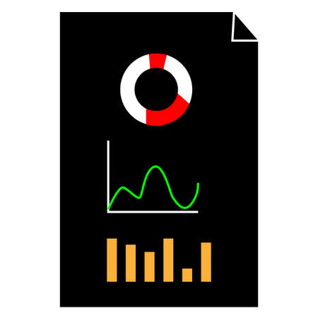 financial analytics icon on white background. economy sign. business analytics logo. flat style. analytics symbol.
