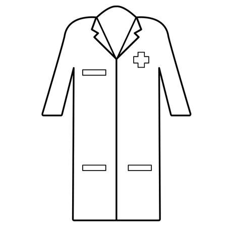 Medical gown clothes icon on white background. Element of medicine sign. flat style. doctor uniform symbol. 向量圖像
