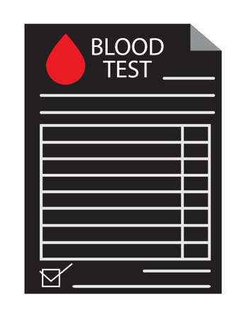 blood test results icon on white background. flat style. lab report sign.