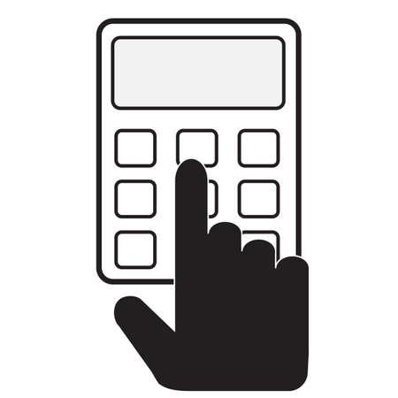 calculator icon on white background. flat style. calculator flat sign. hand holds calculator symbol. 向量圖像