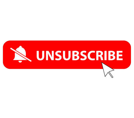 unsubscribe icon on white background. flat style. text box unsubscribe button. unsubscribe symbols.