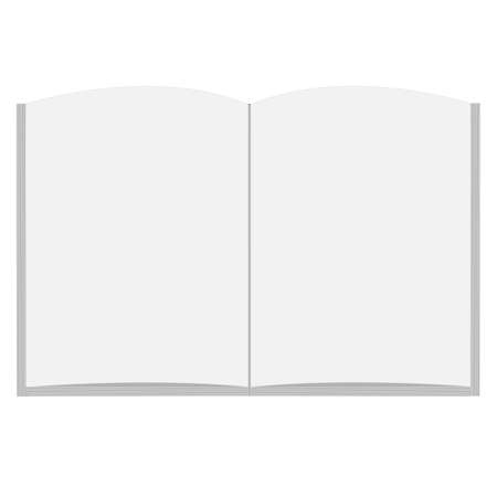 blank open book on white background. flat style. open book top view. open book sign.