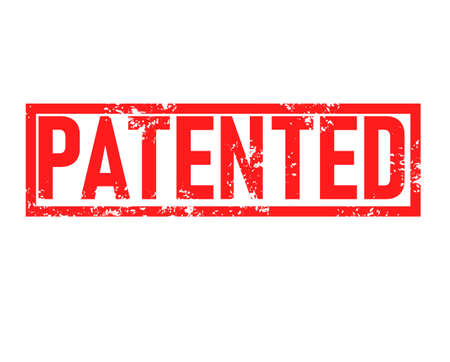 patented stamp red rubber stamp on white background. patented stamp sign. patented sign.