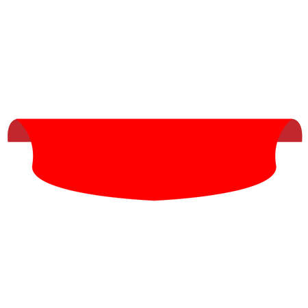 blank red banner special offer on white background. flat style. red banner icon for your web site design, app, UI. red origami style vector paper ribbon sign.