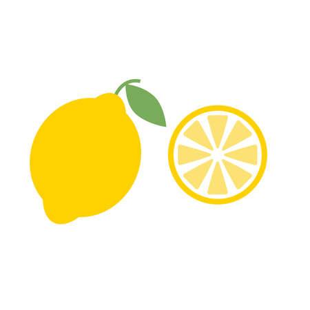 Lemon icon on white background. flat style. lemon fruits sign. lime symbol.