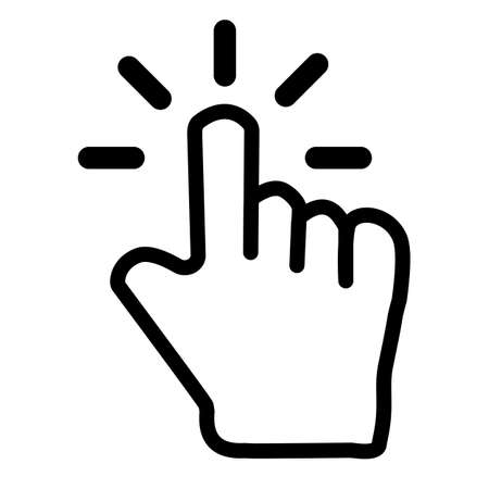 pointer icon on white background. flat style. finger click icon. Ilustração