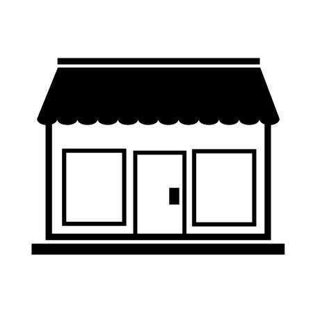 store icon on white background. shop sign. flat style. marketplace symbol.