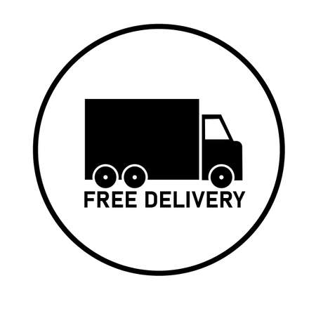 free delivery icon on white background. flat style. free delivery sign. delivery truck symbol. express delivery sign.