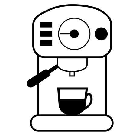 coffee machine icon on white background. bar espresso coffee machine. coffee machine sign. flat style. 向量圖像