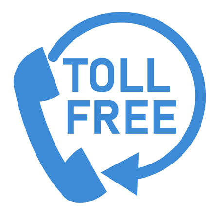 toll free icon on white background. attendance number sign. help symbol. flat style.