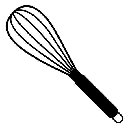 balloon whisk for mixing and whisking icon on white background. flat style. mixing & whisking cooking equipment symbol. balloon whisk sign.