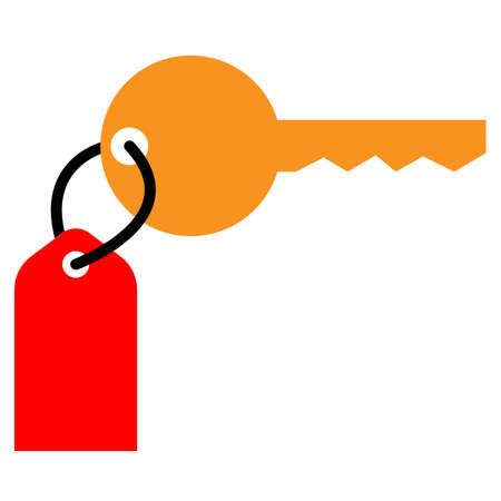 hotel key icon on white background. flat style. room key sign. hotel room key symbol.