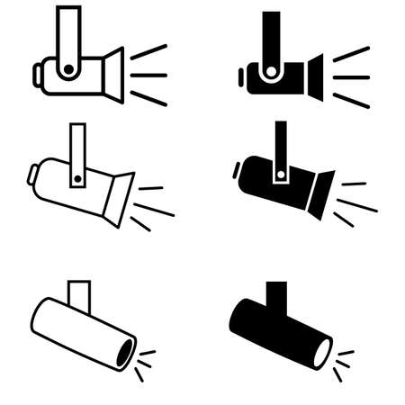 spotlight icon on white background. spotlight outline sign. flashlight business concept. lamp symbol. flat style. 向量圖像
