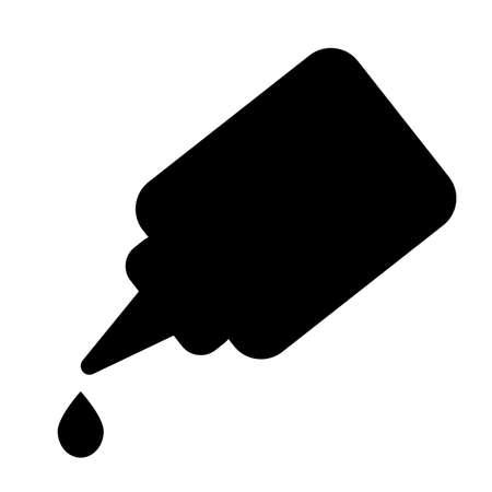 glue icon on white background. bottle of super glue with drop. glue symbol. flat style. Ilustração