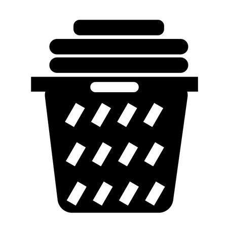 laundry basket icon on white background. clothes basket sign. laundry household symbol. flat style. Ilustração